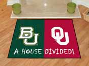 Baylor - Oklahoma House Divided Rugs 33.75x42.5