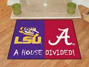 LSU - Alabama House Divided Rugs 33.75x42.5