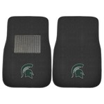 Michigan State 2-piece Embroidered Car Mats 18x27