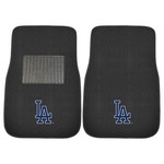 MLB - Los Angeles Dodgers 2-piece Embroidered Car Mats 18x27