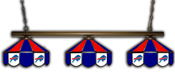 Buffalo Bills 3 Shade Metal Lamp