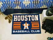 Houston Astros Baseball Club Starter Rug 19x30
