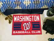 Washington Nationals Baseball Club Starter Rug 19x30