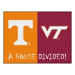 Tennessee / Virginia Tech Divided Rugs 33.75