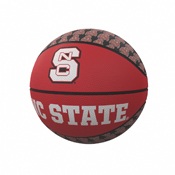 NC State Repeating Logo Mini-Size Rubber Basketball