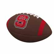 NC State Team Stripe Official-Size Composite Football