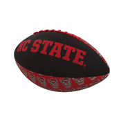 NC State Repeating Mini-Size Rubber Football