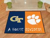 Georgia Tech / Clemson House Divided Rug 33.75x42.5