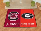 South Carolina / Georgia House Divided Rug 33.75x42.5