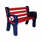 Houston Texans Park Bench