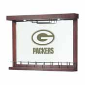 Green Bay Packers Mirrored Wall Bar