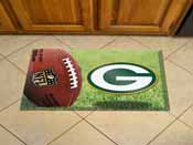 NFL Greenbay Packers Scraper Mat 19x30