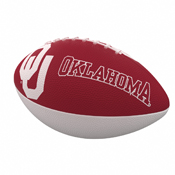 Oklahoma Combo Logo Junior-Size Rubber Football