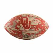 Oklahoma Mini-Size Rubber Camo Football Deflated