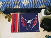 Washington Capitals Uniform Inspired Starter Rug 19x30