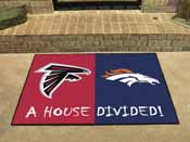 NFL - Atlanta Falcons/Denver Broncos House Divided Rugs 33.75x42.5