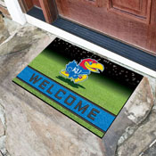 University of Kansas 18x30 Crumb RubberDoor Mat