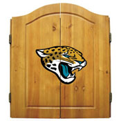 Jacksonville Jaguars Dartboard Cabinet With Darts Set