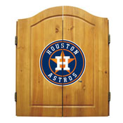 Houston Astros Dart Cabinet Set