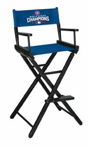 Chicago Cubs World Series Bar Height Directors Chair