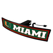 University of Miami Light Up Hitch Cover 21x9.5