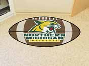 Northern Michigan Football Rug 20.5x32.5