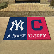 MLB - Yankees - Indians House Divided Rug 33.75x42.5