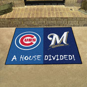 MLB - Cubs - Brewers House Divided Rug 33.75x42.5