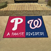 MLB - Phillies - Nationals House Divided Rug 33.75x42.5