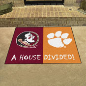 Florida State - Clemson Divided Rug 33.75x42.5