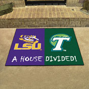 LSU - Tulane Divided Rug 33.75x42.5