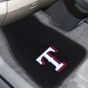 MLB - Texas Rangers 2-PC Embroidered Car Mats 18x27