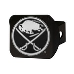 NHL - Buffalo Sabres Black Hitch Cover 4 1/2x3 3/8