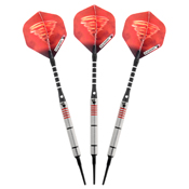 Elkadart Tornado Tungsten Soft Tip Dart Set 3 Red and 4 Black Rings 18gm