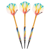 Elkadart Rainbow 90% Tungsten Soft Tip Darts Multi Color Titanium Coating