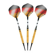 Elkadart Titanium 90% Tungsten Soft Tip Darts Gold Titanium Coating 18 Grams