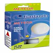 Garlando Meteor 1 Star Table Tennis Ball (6 PK)