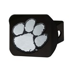 Clemson Black Hitch Cover 4 1/2x3 3/8
