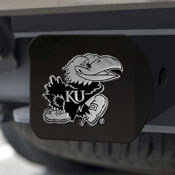 Kansas Black Hitch Cover 4 1/2x3 3/8