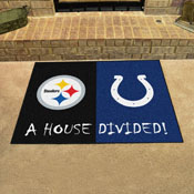 NFL - Steelers - Colts House Divided Rug 33.75x42.5