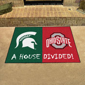 Michigan State - Ohio State House Divided Rug 33.75x42.5