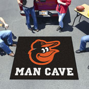 MLB - Balitmore Orioles Man Cave Tailgater Rug 5'x6'