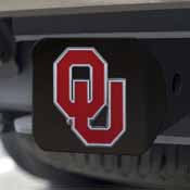 University of Oklahoma Color Hitch Black 3.4x4