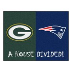 NFL - Packers - Patriots House Divided Rug 33.75x42.5
