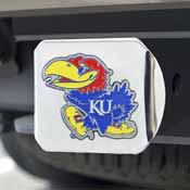 University of Kansas Color Hitch Chrome 3.4x4