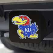 University of Kansas Color Hitch Black 3.4x4