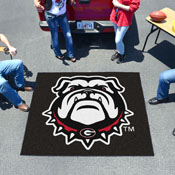 Georgia Black New Bulldog Tailgater Rug 5'x6'