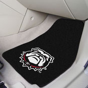 Georgia Black New Bulldog 2-PC Carpeted Car Mats 17x27