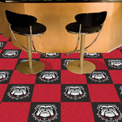 Georgia Black New Bulldog 18x18 Carpet Tiles