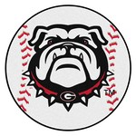 Georgia Black New Bulldog Baseball Mat 27 diameter